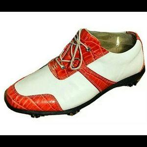 FootJoy Estate Collection Leather Golf Shoes Sz 7M